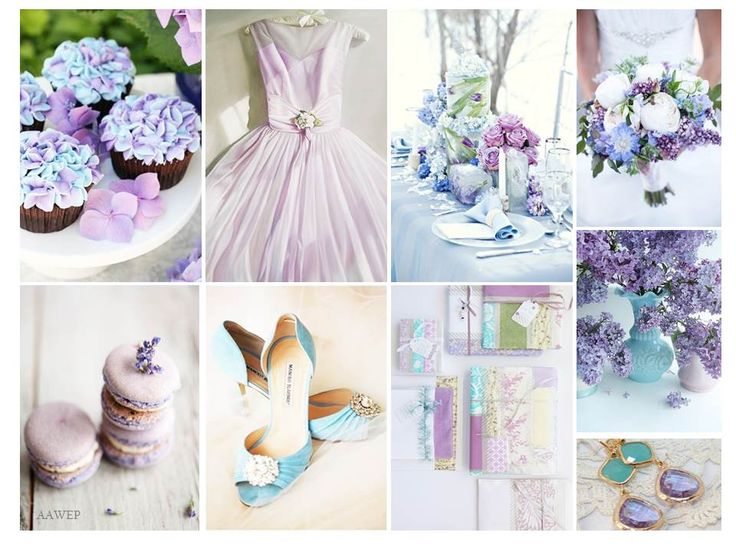 Monday Mood Board Lilac & Blue  www.eventexperts.com.au