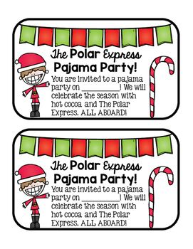 The Polar Express Pajama Party Invites - 50% off!