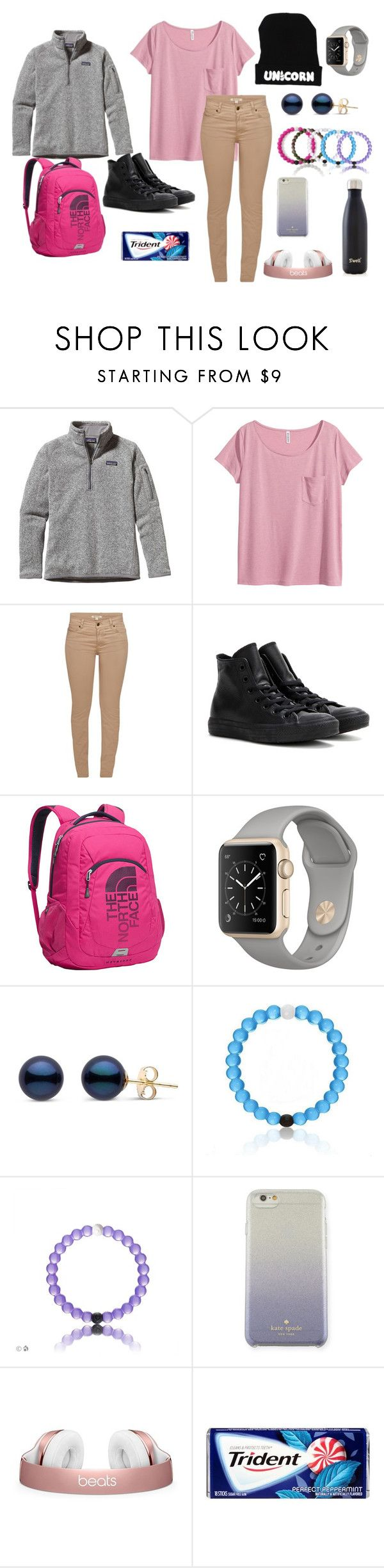 """""""Inverted Colors Challenge!!😂"""" by taybug2147 ❤ liked on Polyvore featuring Patagonia, H&M, Barbour, Converse, The North Face, Kate Spade, S'well and invertedcolorschallenge"""