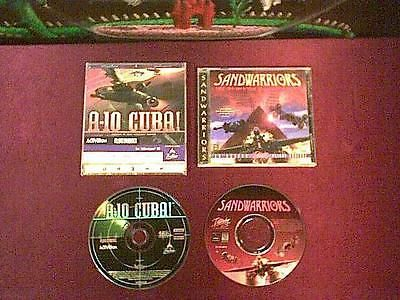 1996 A-10 Cuba Activision & 1997 Sandwarriors by Interplay  2 flight sims for PC