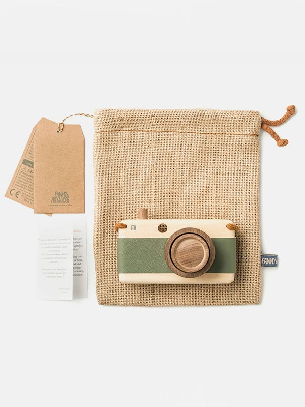 Wooden camera by Fanny & Alexander