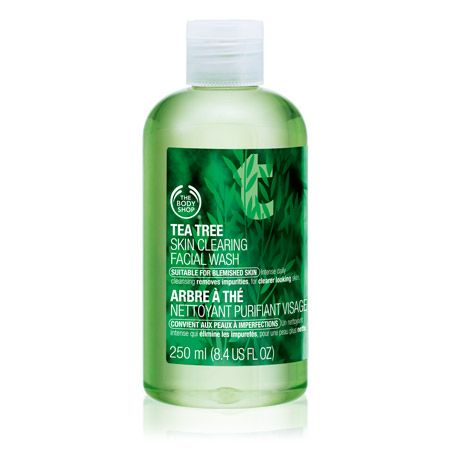 For Erin:  The Body Shop Tea Tree Line - Facial Wash, Clearing Lotion, Clearing Toner, Squeaky Clean Scrub, Pore Minimiser.