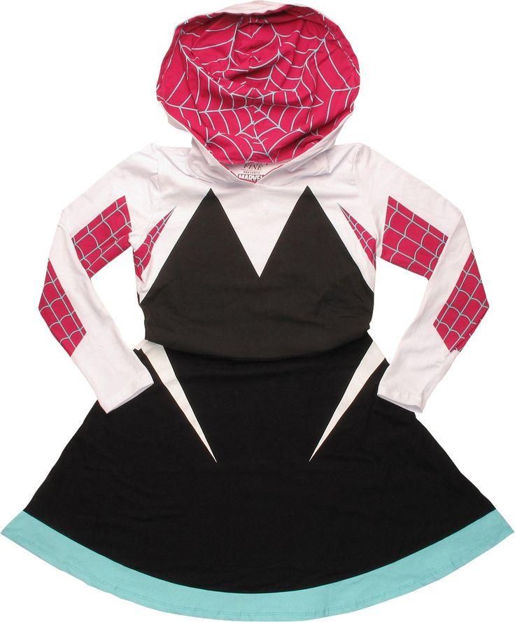 Spiderman Spider-Gwen Costume Skater Hoodie #blackfriday #blackfridaysale
