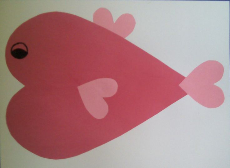 Fish Hearts valentine kids craft. Simple but cute