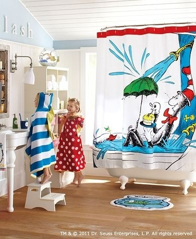 Attirant Dr Suess Bathroom   Love The Shower Curtain!