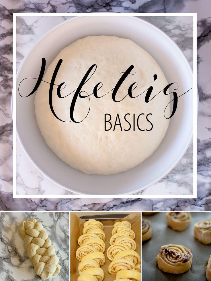 Hefeteig Basics - Einfaches Grundrezept in 2 Varianten: frische Hefe und Trockenhefe