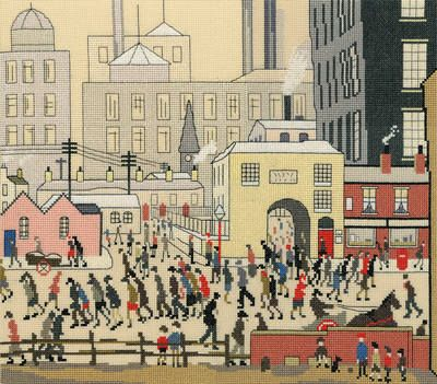 Coming from the Mill (L.S. Lowry)  by Bothy Threads.