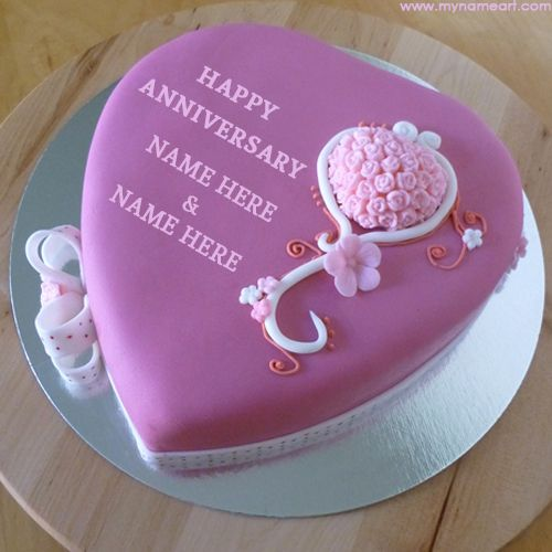 edit purple anniversary cake image with couple name,best beautiful heart cake decorated using flower vector for anniversary wishes,anniversary cake profile name pics