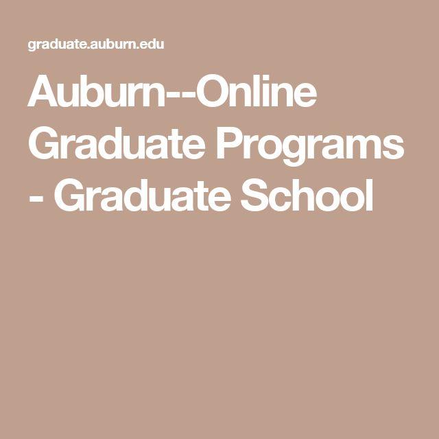 Auburn--Online Graduate Programs - Graduate School