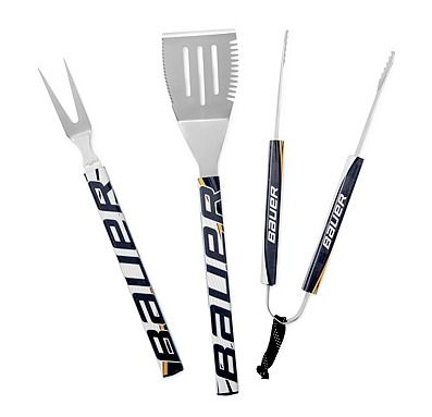 Hockey stick BBQ set.  Fun gift for the hockey-loving man in your life!  20 Unique Gifts for the Man Who Has Everything.  #giftideas #hockey #harvardhomemaker