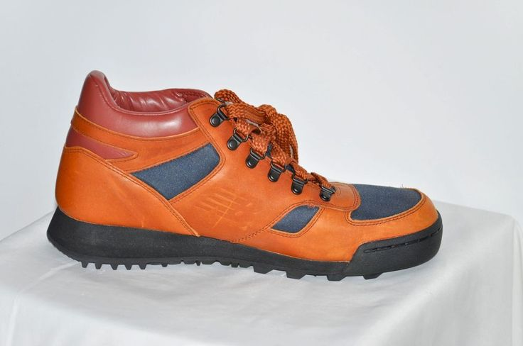 New Balance Men Athletic Shoes Leather Trail Boots Brown Navy size 10 D NEW #NewBalance #HikingTrail