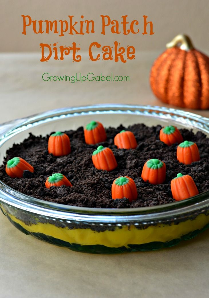 Need an easy dessert for Halloween or fall? Make this adorable pumpkin patch dirt cake! Pudding, cookies and pumpkins are all you need for this Halloween treat.