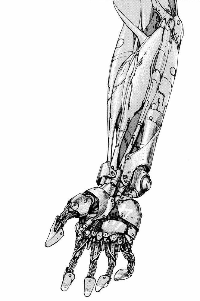 Illustration of a mechanical arm from the sci-fi manga classic「AKIRA」by Otomo Katsuhiro, Japan