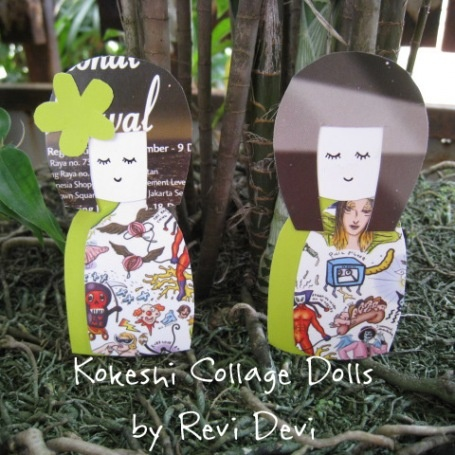 Cute Kokeshi Doll Pattern.  Great for birthday cards and recycling magazine pages.
