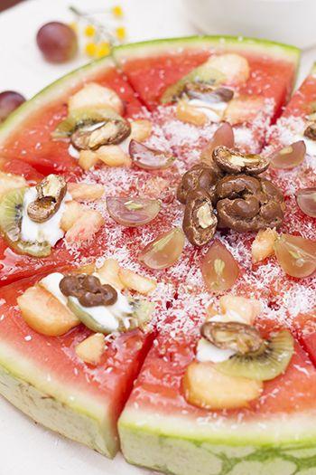 Ideas para comer fruta de manera divertida. Porciones de sandía.