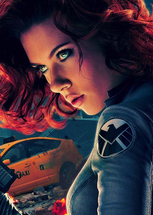 Natasha Romanoff, the infamous Black Widow. Love this picture!