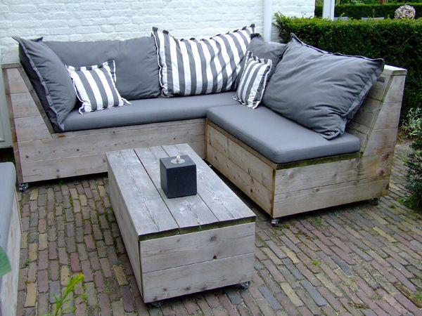 Loungebank losse elementen Jeroen hoek