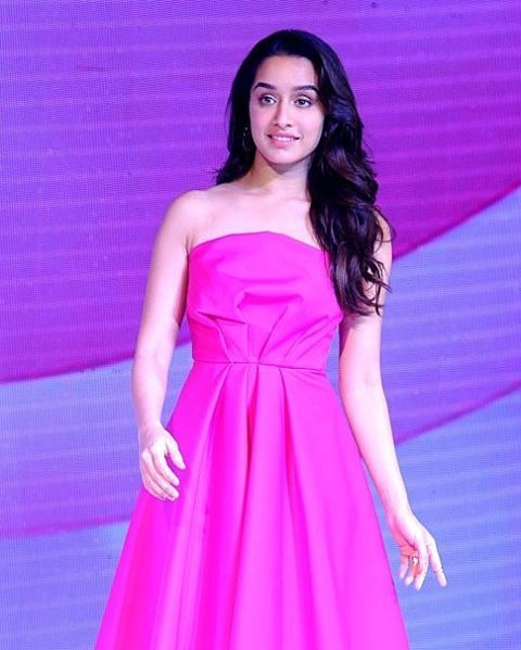 She is just too cute in this pink attire Shraddha Kapoor