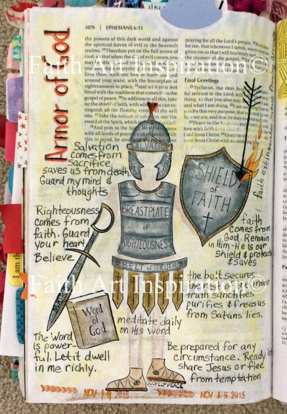 Faith Art Armor of God Red Rubber Stamps by SharedInspiration