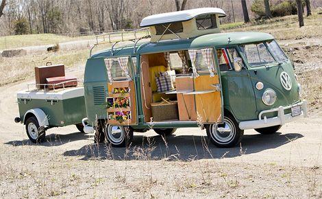 Yes please! 1967 VW Westfalia with matching trailer