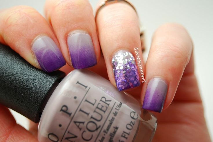 Sarah+Lou+Nails:+Gray-Purple+Gradient+Nails!
