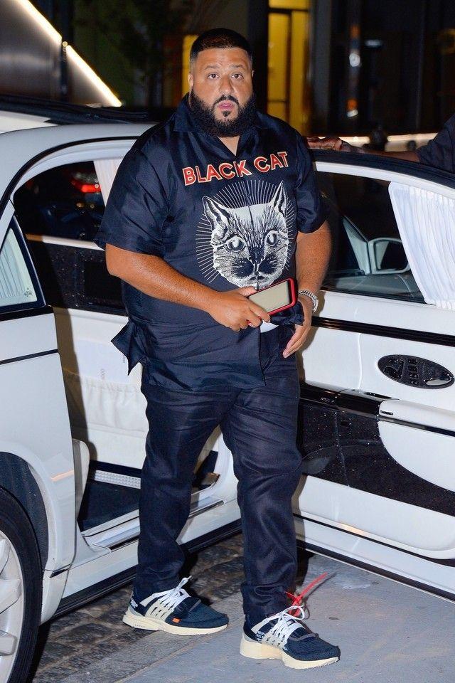 6047563cf DJ Khaled wearing Nike Air Presto Off-White