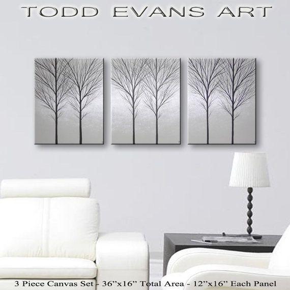 SALE Wall Art Canvas Art Paintings Original Tree by ToddEvansArt