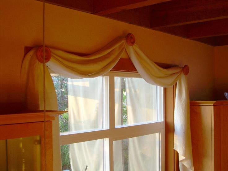 130 Scarf Valance Window Covering Organic Hemp Tencel