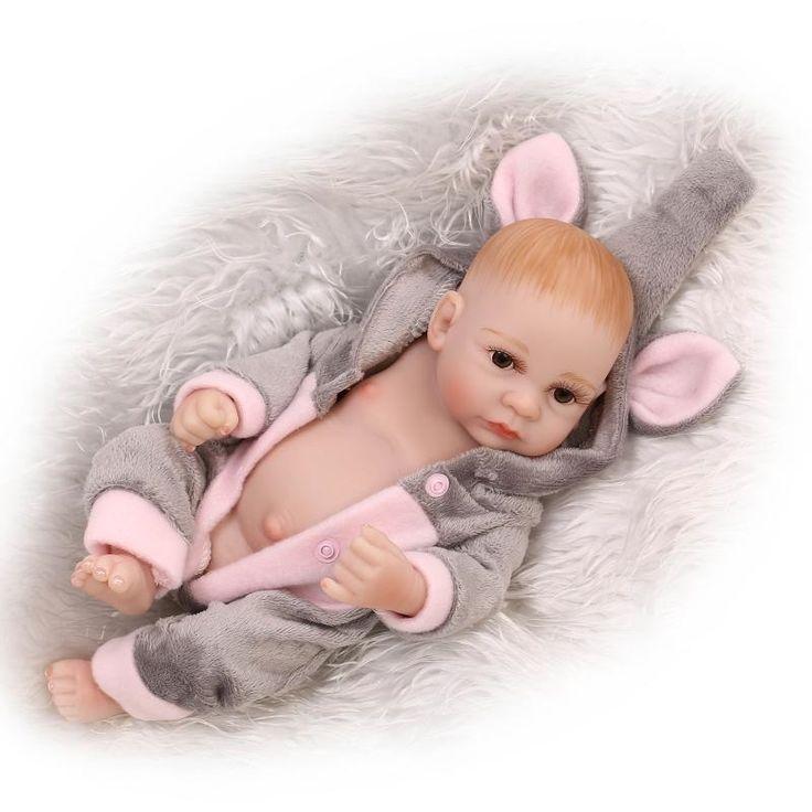 (31.89$)  Buy here  -  27cm NPK brand Silicone reborn dolls boy girl fake baby doll doll reborn for children gift bonecas reborn de silicone inteiro