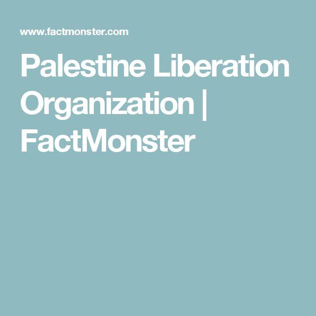 Palestine Liberation Organization   FactMonster