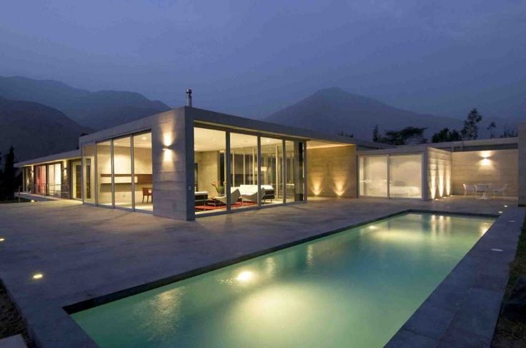 Pool swimming-pool-house-designs-Los-Andes-House-Juan-Carlos-Doblado-and-lighting-ideas 27 Aweome Picture of Pool House Designs