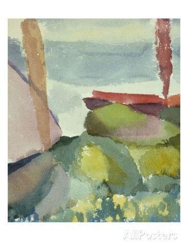 The Seaside in the Rain; See Ufer Bei Regen Schilderij van Paul Klee bij AllPosters.nl
