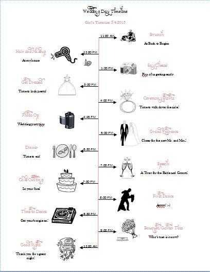 18 Best Images About Wedding Timeline On Pinterest