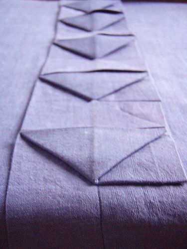 pressed pleat Fabric manipulation: Ruth Singer