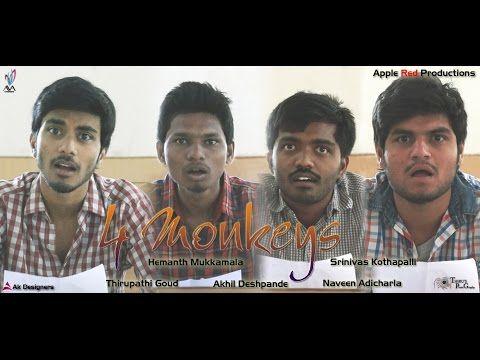 TELUGU SHORT FILMS NET | FUN | LOVE | ACTION | THRILLER | MESSAGE: 4 Monkeys - Telugu Comedy Short Film 2015