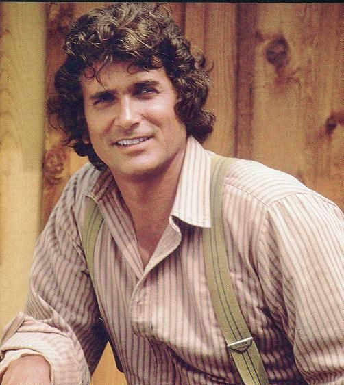 Michael Landon as Charles Ingalls. Little House On The Prairie. ♥  Such a hunk