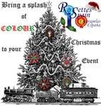 Christmas Tree Rosette Decorations by Rosettes Spain ~ Escarapelas España
