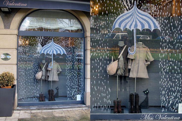 Nuestro escaparate de Otoño. Tienda de moda infantil y juvenil Miss Valentina. Estamos en Las Arenas (Getxo-Vizcaya) y en www.missvalentina.es