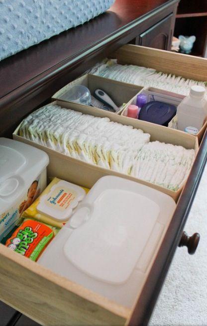 Organized change table drawer