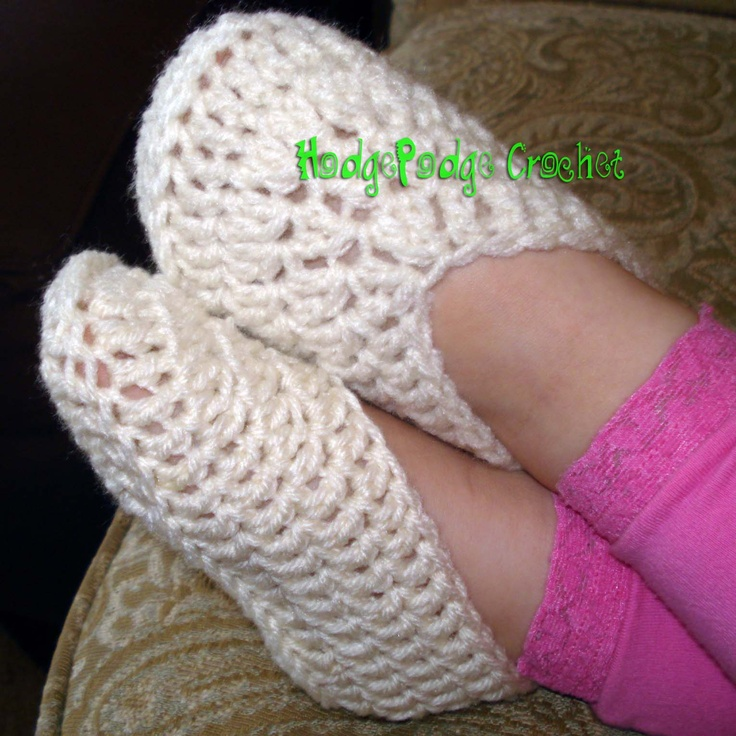 Simple Toddler Slippers « HodgePodge Crochet