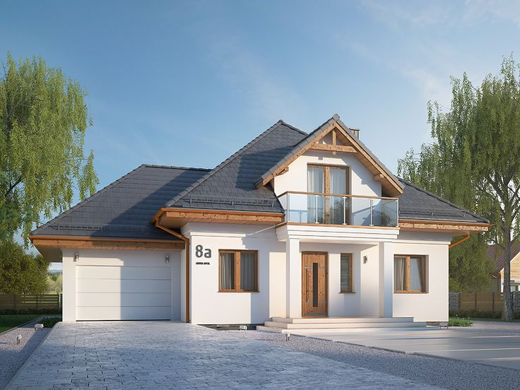 Nowy wizerunek projektu Wilga 4 (162,40 m2). Pełna prezentacja projektu dostępna jest na stronie: https://www.domywstylu.pl/projekt-domu-wilga_4.php. #wilga #domy #projekty #projektydomow #projektygotowe #domywstylu #mtmstyl #architektura #architecture #design