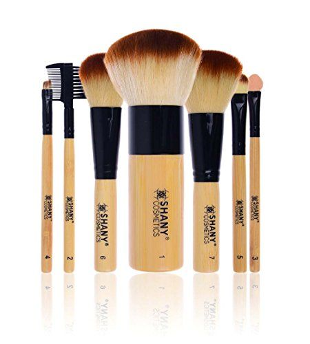 cool SHANY Bamboo Brush Set with Premium Synthetic Hair, Bamboo Handles and Cotton Pouch