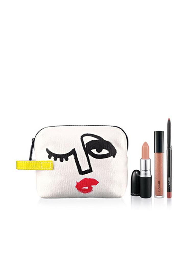M·A·C Lip Bag By Julie Verhoeven/Nude x3
