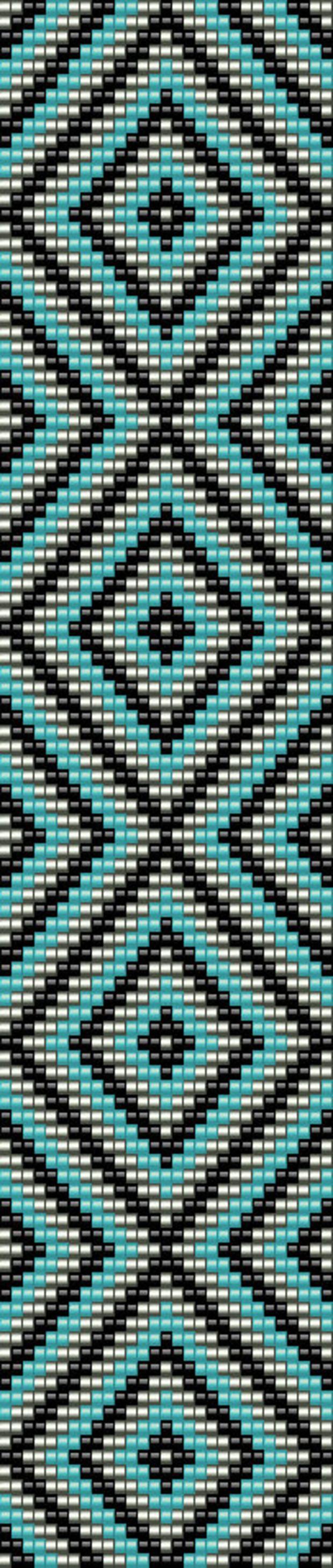 Loom pattern  bead cuff bracelet  seed bead pattern  digital pattern