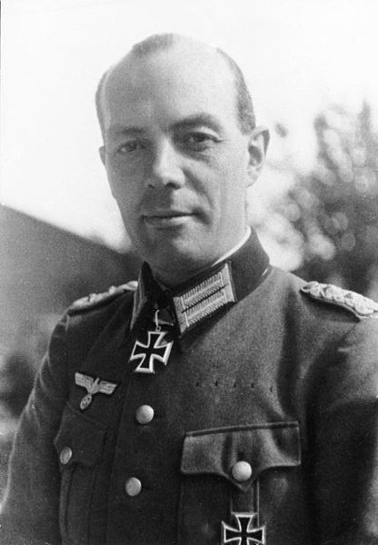 Colonel Rudolph-Christoph Freiherr von Gersdorff (1905-1980) was a career officer and graduate of the Prussian Military Academy. He joined the Abwehr and served as intelligence liaison officer to Army Group Center. He become a close friend of leading Army Group Center conspirator Colonel Henning von Tresckow who recruited Gersdorff into the conspiracy to assassinate Hitler.