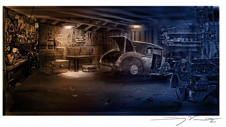 77 best images about dwayne vance art on pinterest for Garage mini 77