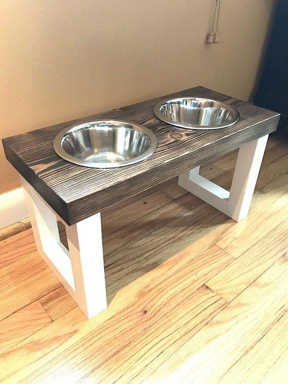 Wooden Pet Food Stand Dog Food Bowl Cat Food Bowl Cat Dog Bowl Stand Dog Food Station Diy Dog Stuff