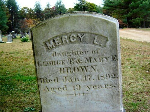 RI legend has it that Mercy Brown was a vampire, Exeter