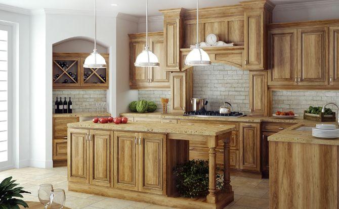 Rustic hickory cabinets canyon creek cabinet company - Custom cabinet companies ...