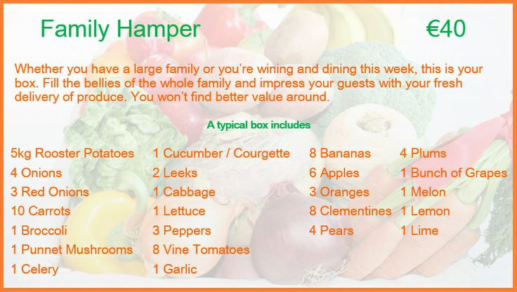 Family Hamper Description